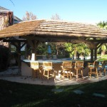 Image of custom outdoor kitchen